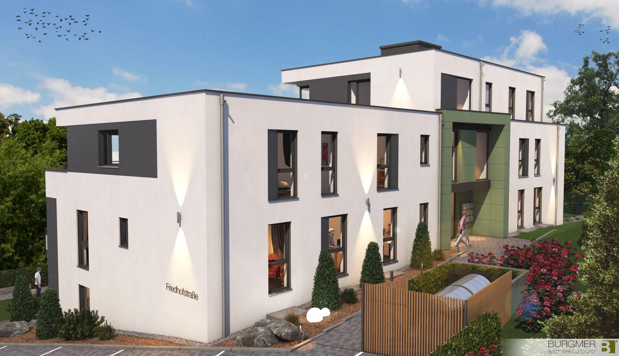 Wohnhaus,Burgmer-architekt,wiehl, 8-Wohneinheiten,wiehl-zentrum,Nico Burgmer,Wohnhaus Wiehl