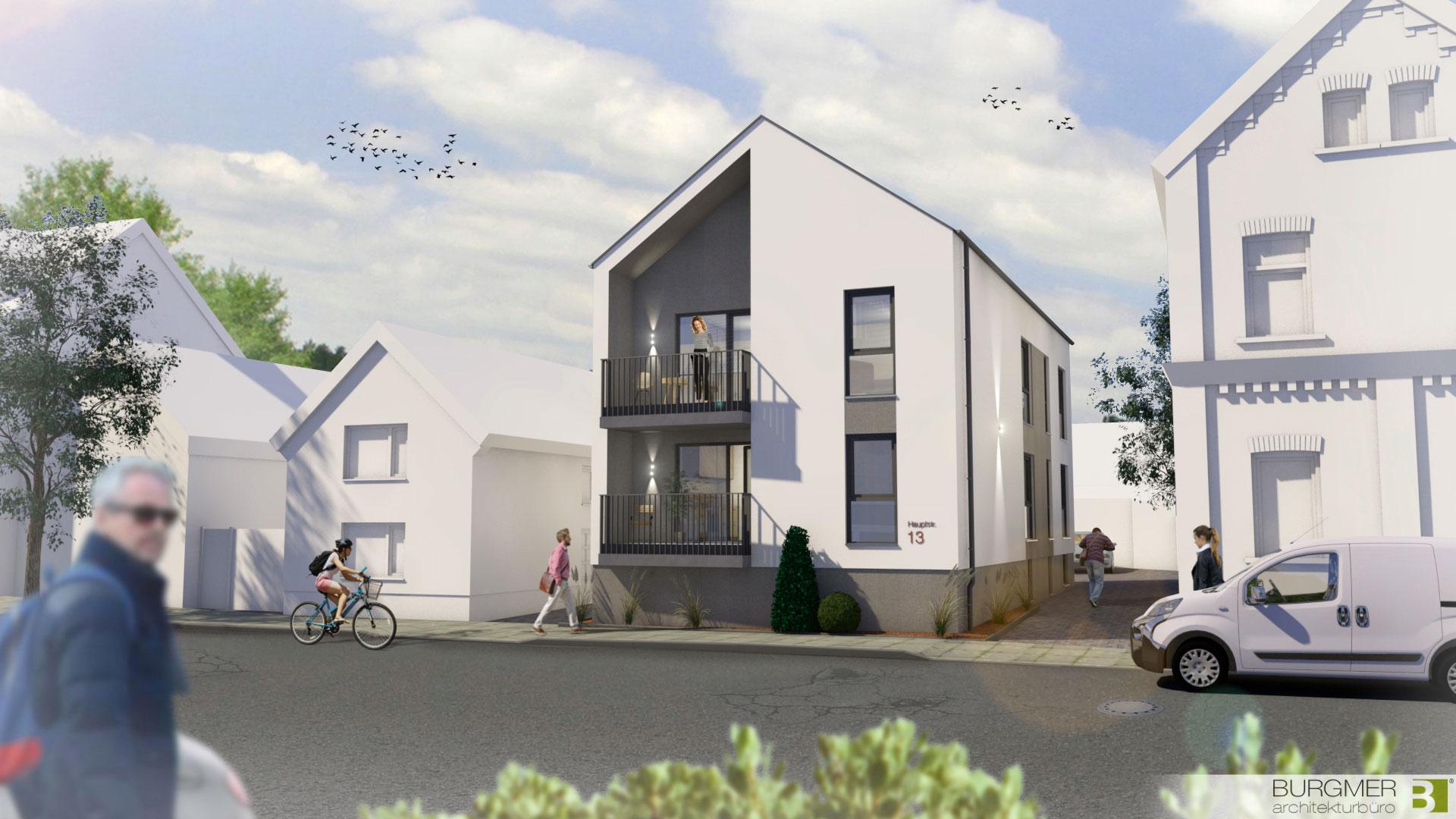 Konzeptentwurf,Baulücke-köln-Worringen,Zweifamilienhaus, Burgmer-Architekt-Wiehl, Nico Burgmer
